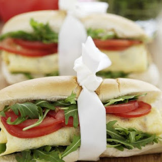 Omelette, Tomato and Rocket Baguettes