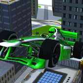 Sports Racing Car Roof Jumping