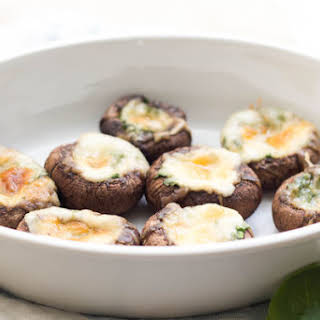 Spinach and Mozzarella Stuffed Mushrooms.