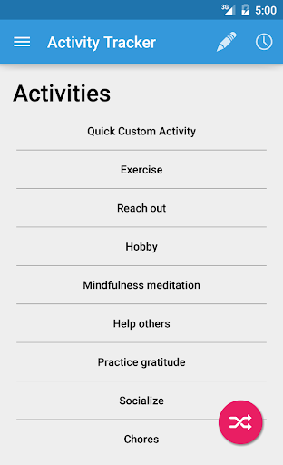 Activity Mood Tracker