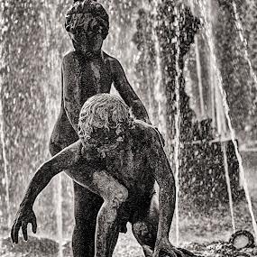 Sicily, Palermo by Sergio Savi - City,  Street & Park  Fountains