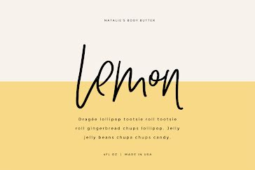 Lemon Body Butter - Label template
