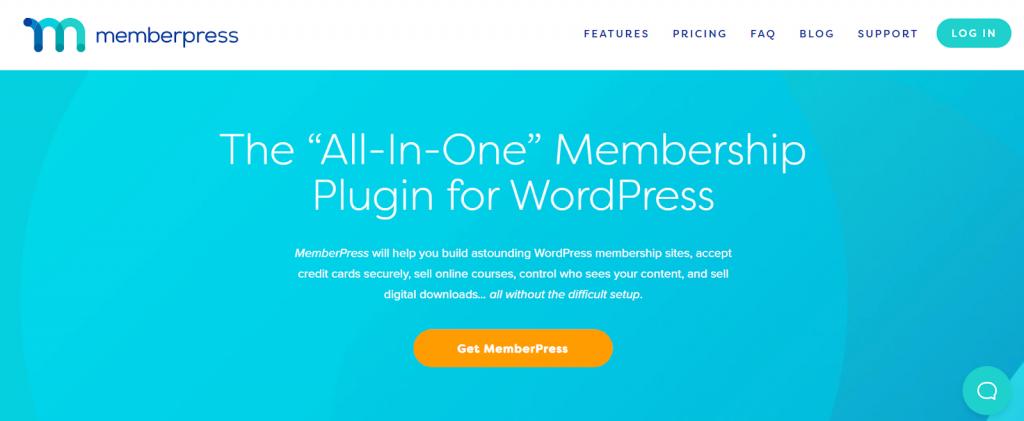 página inicial do memberpress