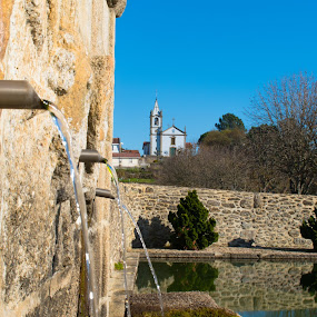 Fonte by Edu Marques - City,  Street & Park  Fountains ( water, inspiration, church, fountains, fountain, landscape, waterscapes, photography, photooftheday )