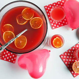 Blood Orange Wine Spritzer Punch With Pomegranate