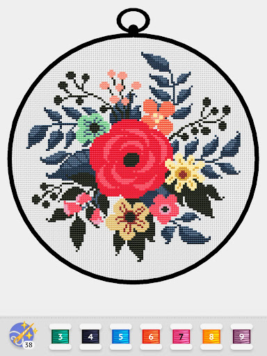 Cross Stitch Club u2014 Color by Numbers with a Hoop 1.4.12 screenshots 15