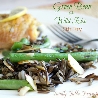 Green Bean & Wild Rice Stir Fry.