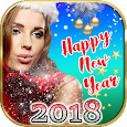 Happy New Year Photo Stickers App with Effects icon
