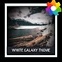 Премиум White Galaxy Theme For Xperia временно бесплатно