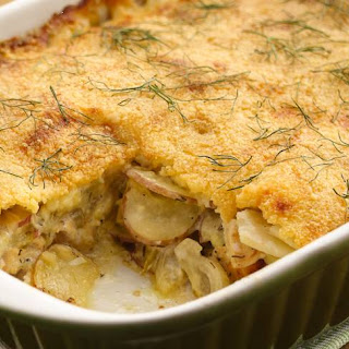Chicken-Fennel-Potato au Gratin