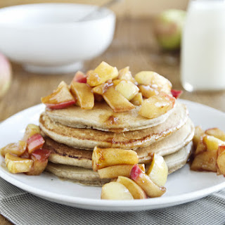 Rye Pancakes with Apple Topping.