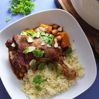 Duck Tagine With Chickpeas and Butternut Squash.