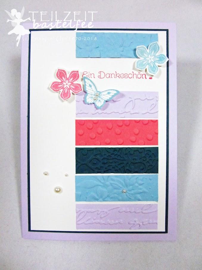 Stampin' Up! - Inkspire_me 398, Sketch Challenge, InColors, embossing folders, Prägeformen, Papillon Potpourri, Petite Petals