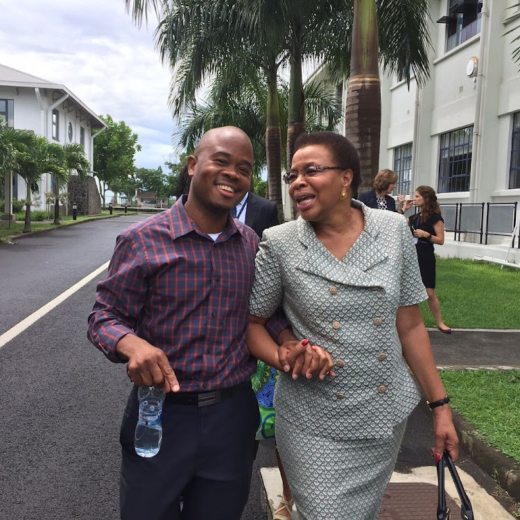 Unleashing potential: Fred Swaniker with Graca Machel, the chancellor of the African Leadership University. At present, the university has two campuses: in Mauritius and Rwanda. A CNN feature on the university called it 'the Harvard of Africa'. Picture: SUPPLIED