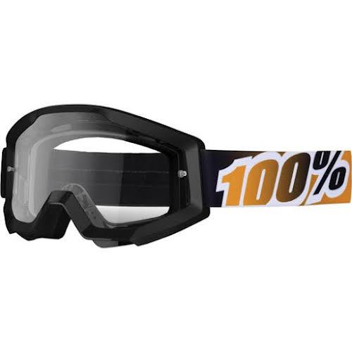 100% Strata Goggle, Black/Mandarina (Clear)