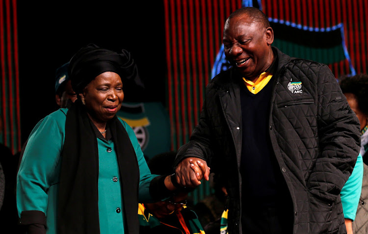 Competing to be the next president of South Africa's ANC: Nkosazana Dlamini-Zuma and Deputy President Cyril Ramaphosa. Picture: REUTERS