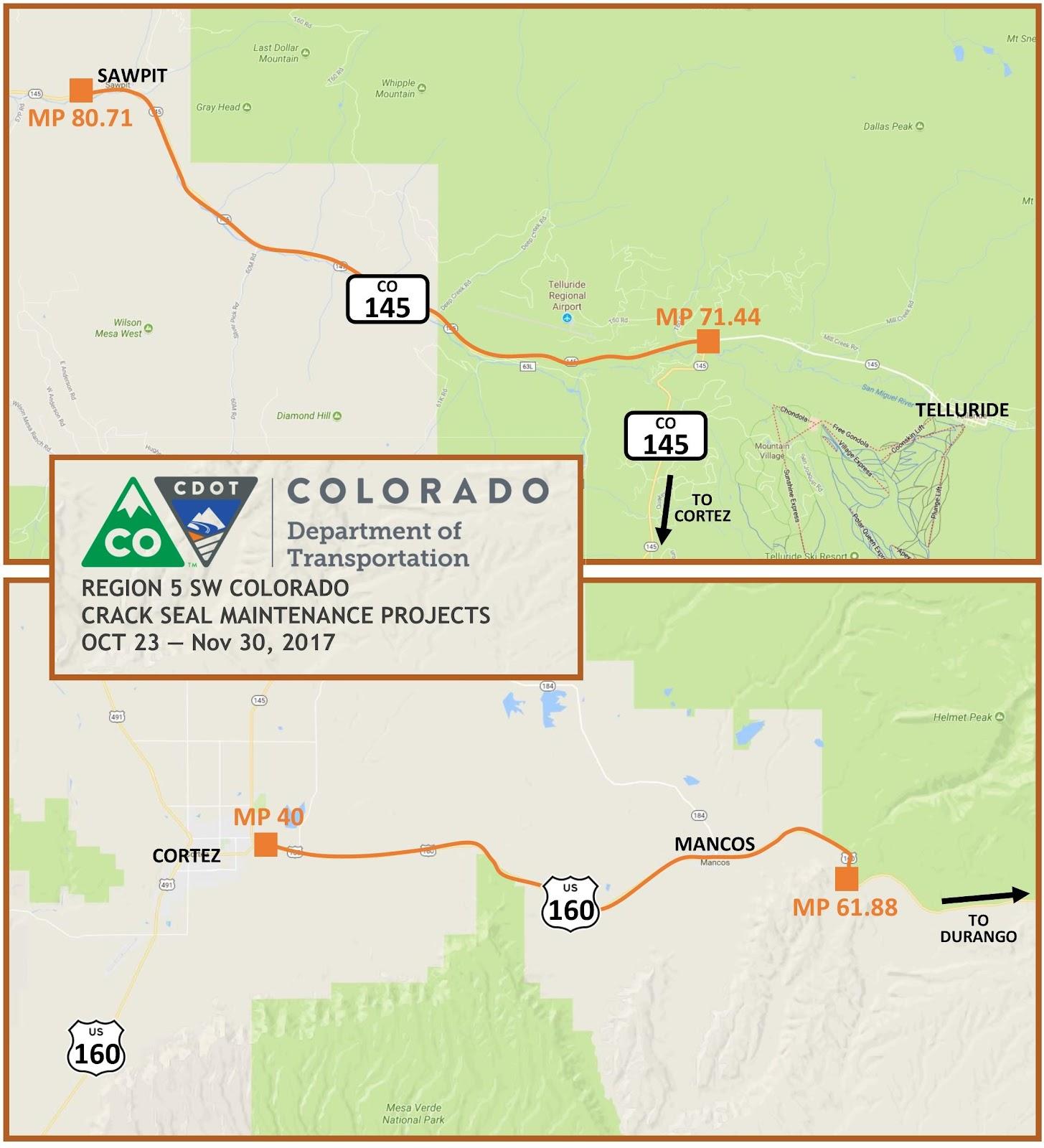 Denver News Closures: CDOT Begins Crack Sealing Projects