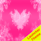 Hearts pink Theme GO Launcher icon