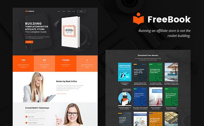 Free E-book Landing Page WordPress Theme