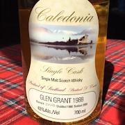Glen Grant 12yr 1988 Caledonian 43%