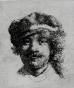 Rembrandt_-_Self_portrait_etching_-_ISGM