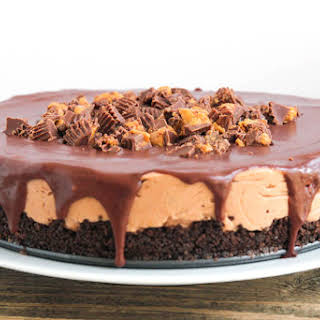 Reese's No Bake Chocolate Peanut Butter Cheesecake.