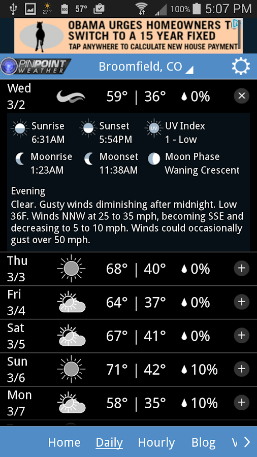 Fox31 - CW2 Pinpoint Weather- screenshot
