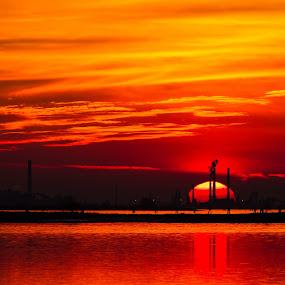 Sunset by Felea Adina - Landscapes Sunsets & Sunrises ( sanset burano veneto isla romantic red )