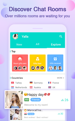 Yalla-Free Voice Chat Rooms  screenshots 2