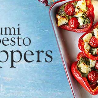 Halloumi And Pesto Peppers