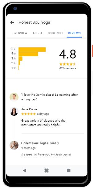 Google my business optimization: reviews
