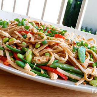 Sesame Noodles with Chicken and Peanuts