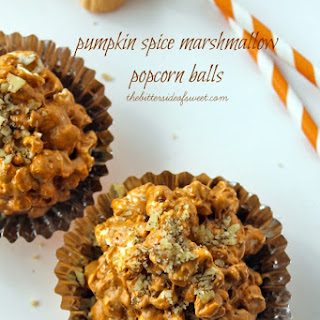 Pumpkin Spice Marshmallow Popcorn Balls