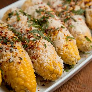 Mario Batali's Grilled Corn Italian Style