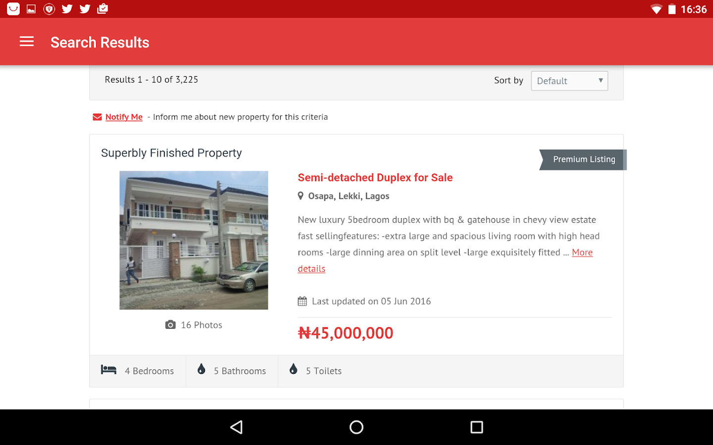 Nigeria Property Centre- screenshot