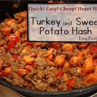 One Pot Dinner Turkey and Sweet Potato Hash.