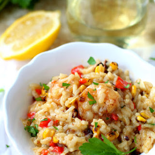 Easy Dairy Free Shrimp Risotto.