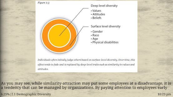 surface level diversity and deep level diversity essay We examined how surface-level diversity (based on race) and deep-level similarities influenced three-person decision-making groups on a hidden-profile task surface-level homogeneous groups perceived their information to be less unique and spent less time on the task than surface-level diverse groups.
