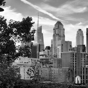 New York by Lope Piamonte Jr - Black & White Buildings & Architecture