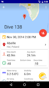 DiveTraffic logbook and atlas - náhled