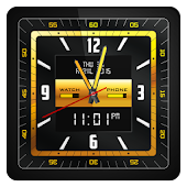 Gold Alloy Analog Watch Face