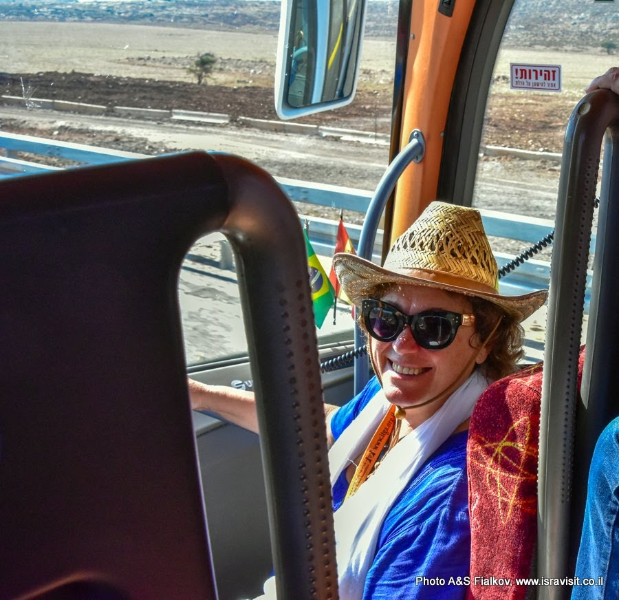Гид в Израиле Светлана Фиалкова на экскурсии по Верхней Галилее.