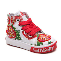 Lelli Kelly Strawberry Baby Mid HIGH TOP TRAINER