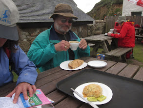 Photo: We stop in Porthgwarra for Cornish pasties, tea, and scones.