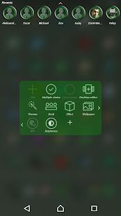 TSF Shell Theme Green Circle - náhled