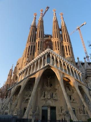 2017 Barcelona Španielsko Gaudiho park a La Sagrada Familia