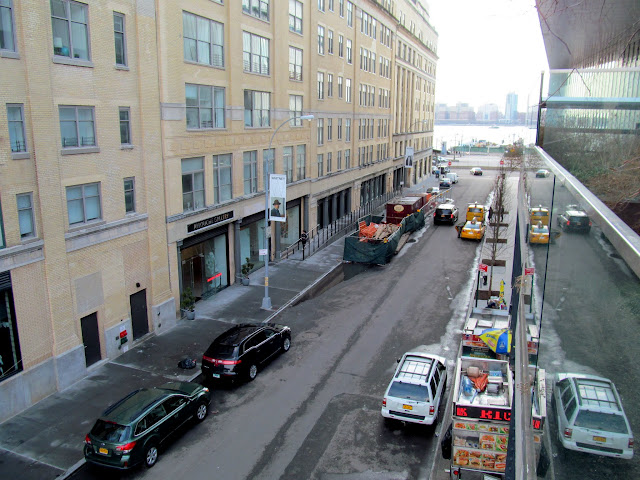 Gansevoort Street at the south end of the High Line