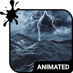 Stormy Sea Animated Keyboard Icon