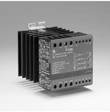 Mjukstart/stopp 11 kW, 400 VAC, 25A, by-pass möjlighet