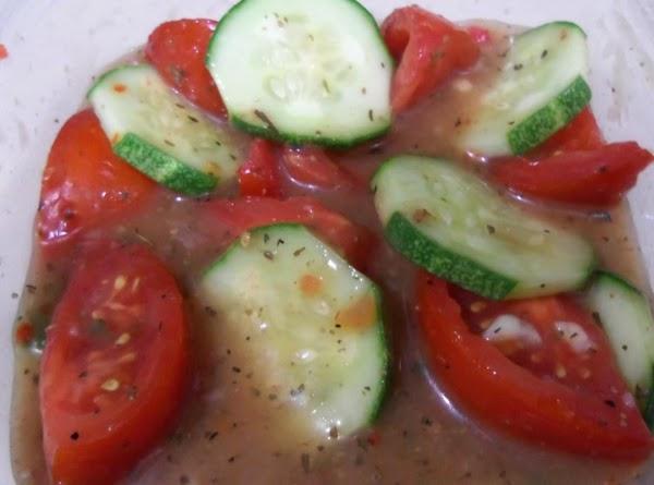 Marinated Fresh Tomatoes & Cucumbers Recipe